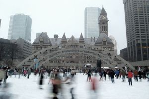 Nathan Phillip's Square, Family Day, ice skating